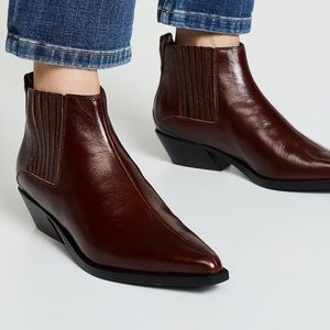 NEW Rag & Bone Western Boots Red